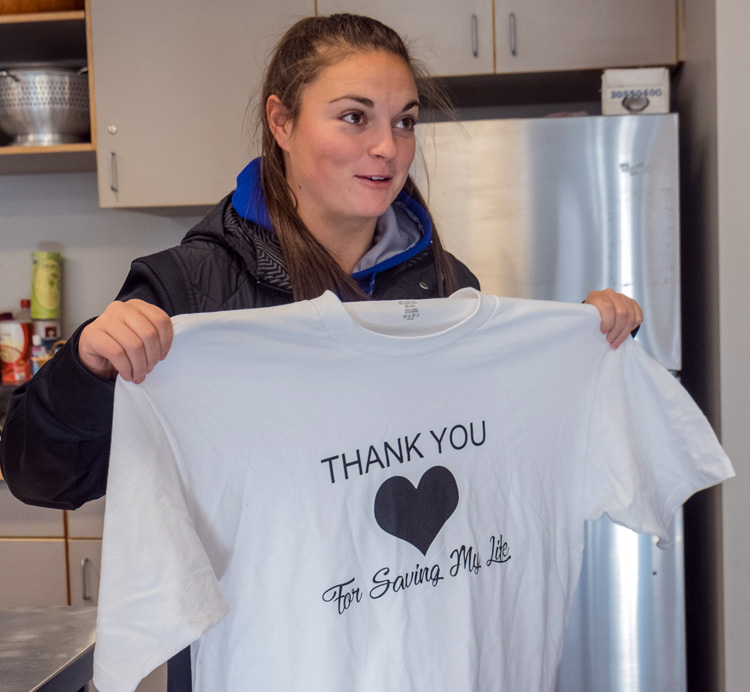 A Model of Resilience, Moped Accident Victim Returns to Thank First Responders