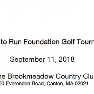 The Born to Run Foundation Golf Tournament