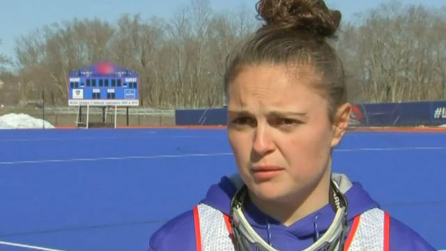 Lacrosse player who lost her leg in moped accident scores in her first game back
