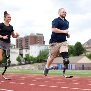 Bedford man has new bounce in his step with prosthetic running blade