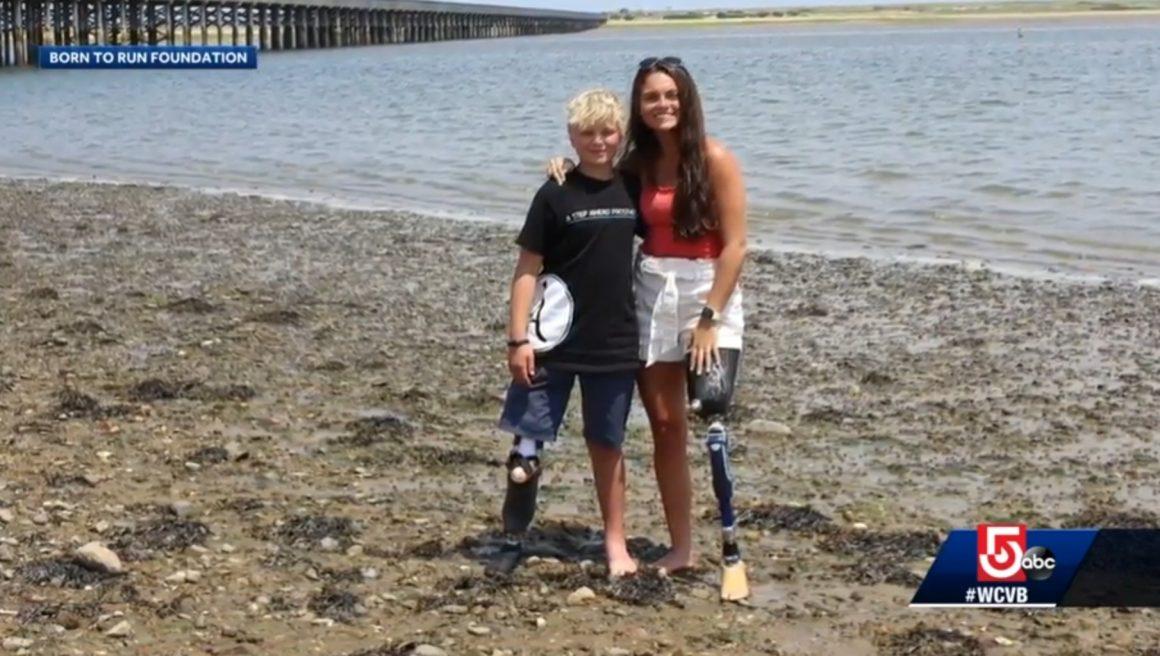 Massachusetts foundation donates artificial water leg to 12-year-old Montana boy