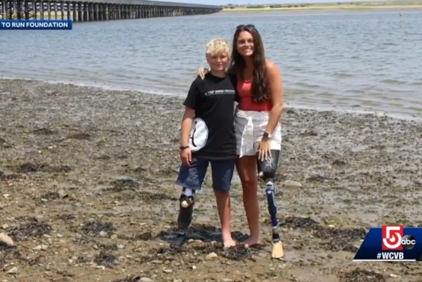 Massachusetts foundation donates artificial water leg to 12-year-old Montana boy