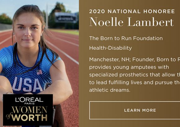 Noelle Lambert named the 2020 L'Oréal Paris Women of Worth National Honoree
