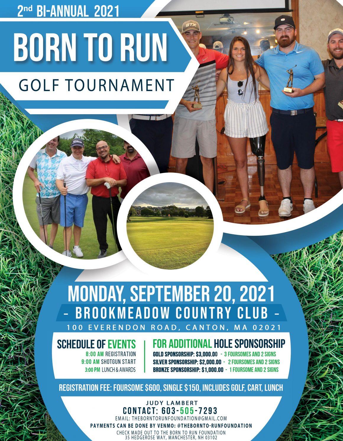The Born To Run Foundation Golf Tournament September 20